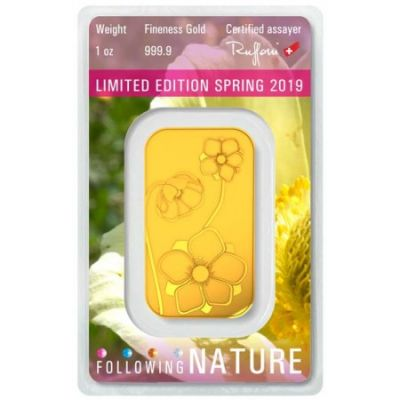 Zlatý slitek Argor Heraeus 1 Oz - Following Nature III (jaro 2019)