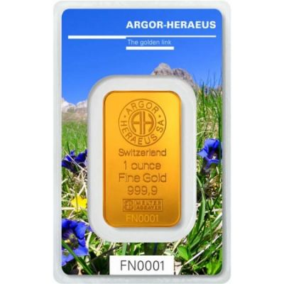 Zlatý slitek Argor Heraeus 1 Oz - Following Nature III (léto 2019)
